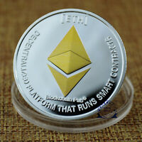 1oz Ethereum Crypto Currency Coin Silver BLEMISH Finish Novelty Bitcoin BTC ETH