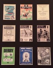 """More details for derby county fc vintage football programmes picture 14"""" x 11"""" free postage"""