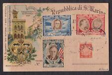 SAN MARINO 1949, Illustrated postcard