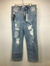 Cello Jeans Distressed Ripped Destroyed Size 13 Light Wash Cropped NWT