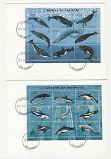 Gambia: 2 Souvenir sheet in cover, thematic dolphin and wales, beautiful. GAM09