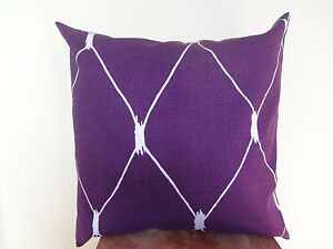 SALE Decorative Pillow Cover Purple Silver Gray Graphic Patterns Toss Accent