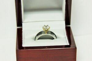 Camo Ring~Mossy Oak~Obsession~Engagement~1 CT CZ~14k YG Prong Set~8.5 Sz~Wedding