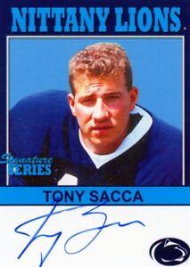 2006 TK LEGACY PENN STATE NITTANY LIONS TONY SACCA 1988-91 P28 AUTO AUTOGRAPH