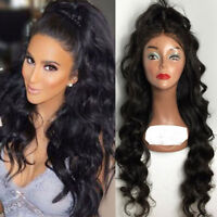 8A 1B Pre Plucked 360 Full Frontal Lace Wigs Indian Human Hair Loose Body Wave 8