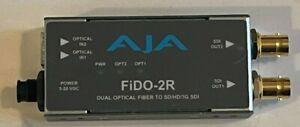 AJA FiDO-2R Mini Converter Dual Optical Fiber To SD/HD/3G SDI