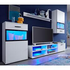 wohnwand swing wohnzimmer lowboard anbauwand wei vitrinen mit glasfront - Wohnzimmermobel Weis