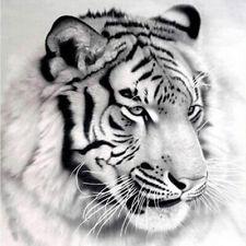 Pretty White Tiger 5D Diamond Painting Embroidery Cross Stitch Kit Decor Parts
