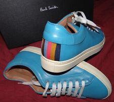 Diseñador Turquesa de Cuero Inteligente PAUL SMITH Zapatos Estilo entrenador UK 7 & 9