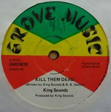 "🇧🇴 KING SOUNDS - Kill Them Dead - 12"" Vinyl 1979 Grove Music 🇧🇴 ROOTS REGGAE"