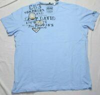 Camp David Bay of Island Summer Blue T-Shirt Gr. XXXL