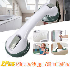 2X Bathroom Grip Rail Shower Handle Bar Safety Support Suction Mount Portable !