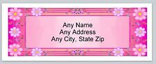 Personalized address labels Pink Flowers Buy 3 get 1 free (xac 868)
