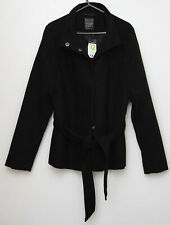 Primark long sleeved jacket coat size 12 black outside wear tagged