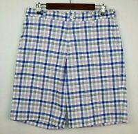 Nike Golf Dri Fit Mens Size 32 Gray Plaid Shorts Polyester Golf Causal Outdoor