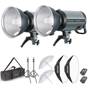 Neewer 1200W Studio Strobe Flash Monolight Kit with Softbox Umbrella