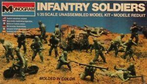 Monogram 1:35 Infantry Soldiers Plastic Figure Model Kit #6304U