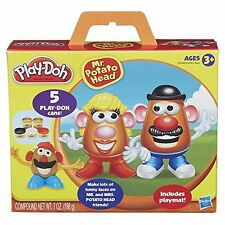 Mr Potato Head Set 5 Different Play-Doh Colors, Mold Your Favorite Potato Figure