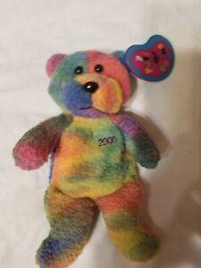 Full of Beans bear rainbow Avon  1999 6.5 L
