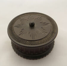 SMALL ROUND BOX - MAY INTEREST COLLECTORS OF ANTIQUE ENGINE TURNED WOODEN BOXES