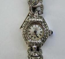Ladies' Vintage Rotary Marcasite Swiss Made 17 Jewelled Hand Winding Watch