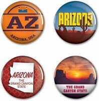 "WinCraft Destination Arizona State/Arizona Button 4 Pack 1 1/4"" Round Free Ship"