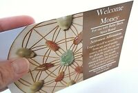 WELCOME MONEY Grid Card 4x6inch Information on Setting up Receiving Wealth