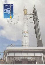 ESA Ariane Rakete     Maxikarte Schweiz 1979