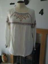 woman`s boho top by tu size 10 in good condition