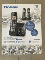 Panasonic KX-TG833SK Link2Cell Cordless 3 handset Telephone W/ Answering Machine