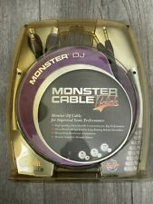 """Monster Cable Prolink DJ Cable Pair TRS 1/4"""" To XLR Female 3ft / 1m"""