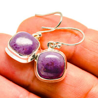 "Charoite 925 Sterling Silver Earrings 1"" Ana Co Jewelry E408179F"