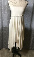 Newport News Women's Ivory Sleeveless Tube Handkerchief Dress - Size Small