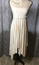 Newport News Women's Ivory Sleeveless Tube Handkerchief Dress - Size Small