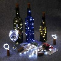 4pcs Wine Bottle Fairy String Lights 20 LED Battery Cork For Party Xmas Wedding