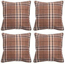 Polyester Checked Modern Decorative Cushions