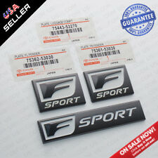 3x F-Sport Logo ABS Badge Side Fender Marker Trunk Lid Nameplate Emblem Set
