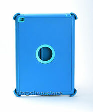 iPad Air 2 Defender Rugged Shockproof Hard Shell Case w/Stand Cover Blue / Teal