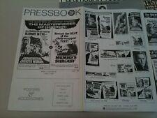 Pressbook lot Frankenstein Created Woman Monster fr Hell, Must be Destroyed,Evil