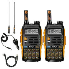 2Pack BaoFeng GT-3 Mark II + Cable VHF UHF Emisora Transceptor portatil Radio