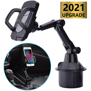 Universal  Cup Holder Phone Mount, Long Neck Never Shake Car Cup Phone Holder Cr