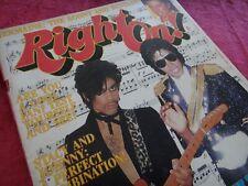 MICHAEL JACKSON & PRINCE RIGHT ON! MAGAZINE SEPT.1984 MEMORABILIA VINTAGE RARE