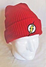 DC Comics The Flash Crimson Red w/ Logo Cozy Cuffed Beanie