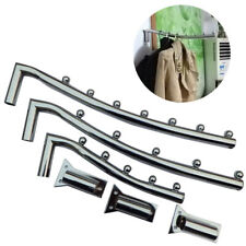 Stainless Steel Clothing Rack Clothes Hook with Swing Arm Ball Holder Wall Mount