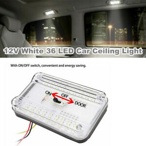 1PC 12V White 36 LED Roof Reading Lamp Ceiling Interior RV Trunk Light w/ Switch