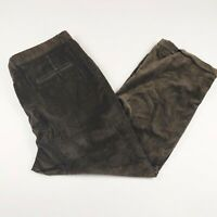 Vintage Mens Keaton Chase 38x28 Brown Pleated Corduroy Pants Cords Made In USA
