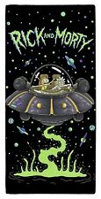 EXTRA LARGE - RICK AND MORTY UFO SPACESHIP BATH TOWEL BOYS GIRLS KIDS HOLIDAY