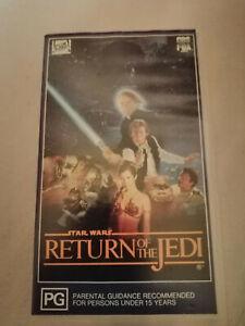 STAR WARS: RETURN OF THE JEDI (1983) - Rare CBS/FOX Early 1992 OzNz VHS Issue!