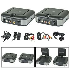 5.8GHz RF Wireless Audio Video Transmitter & Receiver S-Video Composite RCA VCR