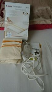 Beurer HK25 Electric Heating Pad Washable Temperature control 3 heat Setting